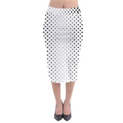 Square Rounded Background Midi Pencil Skirt