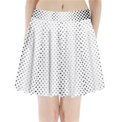 Square Rounded Background Pleated Mini Skirt