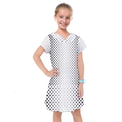 Square Rounded Background Kids  Drop Waist Dress