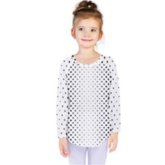 Square Rounded Background Kids  Long Sleeve Tee