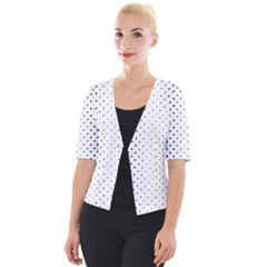 Square Rounded Background Cropped Button Cardigan