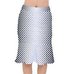 Square Rounded Background Mermaid Skirt
