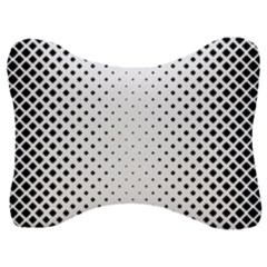 Square Rounded Background Velour Seat Head Rest Cushion