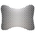 Square Rounded Background Velour Seat Head Rest Cushion View1