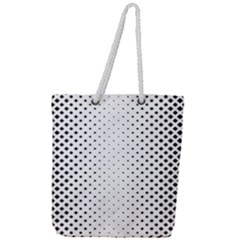 Square Rounded Background Full Print Rope Handle Tote (large)