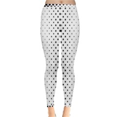 Square Rounded Background Inside Out Leggings