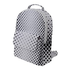 Square Rounded Background Flap Pocket Backpack (large)