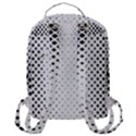 Square Rounded Background Flap Pocket Backpack (Large) View3