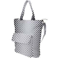 Square Rounded Background Shoulder Tote Bag