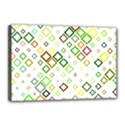 Square Colorful Geometric Style Canvas 18  x 12  (Stretched) View1