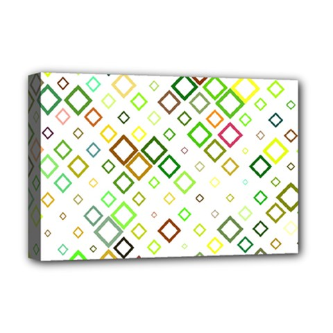Square Colorful Geometric Style Deluxe Canvas 18  X 12  (stretched)