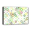 Square Colorful Geometric Style Deluxe Canvas 18  x 12  (Stretched) View1