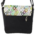 Square Colorful Geometric Style Flap Closure Messenger Bag (S) View1