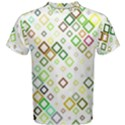 Square Colorful Geometric Style Men s Cotton Tee View1