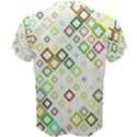 Square Colorful Geometric Style Men s Cotton Tee View2