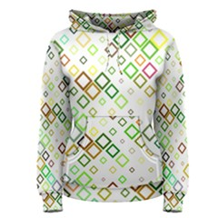 Square Colorful Geometric Style Women s Pullover Hoodie