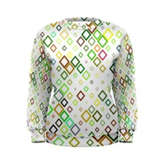 Square Colorful Geometric Style Women s Sweatshirt
