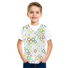 Square Colorful Geometric Style Kids  Sportswear