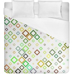 Square Colorful Geometric Style Duvet Cover (king Size)