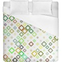 Square Colorful Geometric Style Duvet Cover (King Size) View1