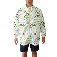 Square Colorful Geometric Style Windbreaker (kids)