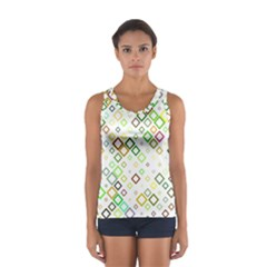 Square Colorful Geometric Style Sport Tank Top