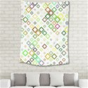 Square Colorful Geometric Style Medium Tapestry View2