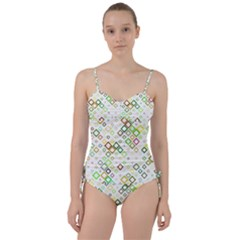 Square Colorful Geometric Style Sweetheart Tankini Set