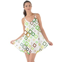 Square Colorful Geometric Style Love The Sun Cover Up