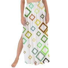 Square Colorful Geometric Style Maxi Chiffon Tie Up Sarong