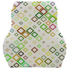 Square Colorful Geometric Style Car Seat Velour Cushion