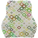 Square Colorful Geometric Style Car Seat Velour Cushion  View1