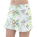 Square Colorful Geometric Style Tennis Skirt View1