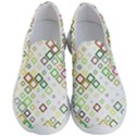 Square Colorful Geometric Style Men s Lightweight Slip Ons View1