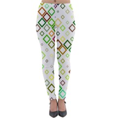 Square Colorful Geometric Style Lightweight Velour Leggings