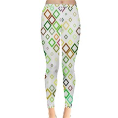Square Colorful Geometric Style Inside Out Leggings