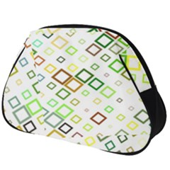 Square Colorful Geometric Style Full Print Accessory Pouch (big)