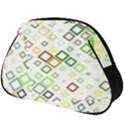 Square Colorful Geometric Style Full Print Accessory Pouch (Big) View1