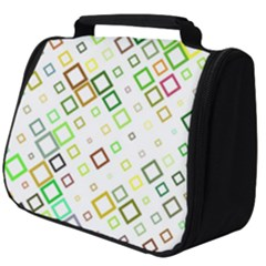 Square Colorful Geometric Style Full Print Travel Pouch (big)