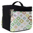 Square Colorful Geometric Style Make Up Travel Bag (Small) View1