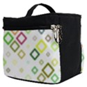 Square Colorful Geometric Style Make Up Travel Bag (Small) View2