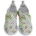 Square Colorful Geometric Style Kids  Velcro No Lace Shoes View1