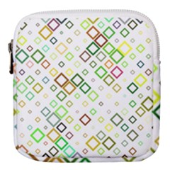 Square Colorful Geometric Style Mini Square Pouch