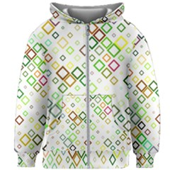 Square Colorful Geometric Style Kids  Zipper Hoodie Without Drawstring