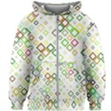 Square Colorful Geometric Style Kids  Zipper Hoodie Without Drawstring View1