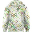 Square Colorful Geometric Style Kids  Zipper Hoodie Without Drawstring View2