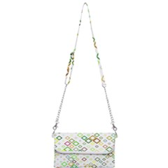 Square Colorful Geometric Style Mini Crossbody Handbag by Alisyart