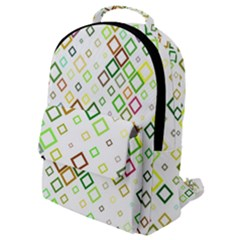 Square Colorful Geometric Style Flap Pocket Backpack (small) by Alisyart