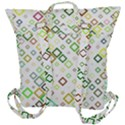 Square Colorful Geometric Style Buckle Up Backpack View3
