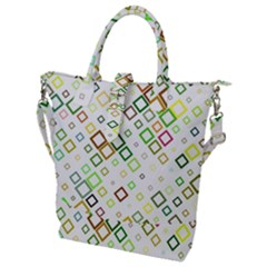 Square Colorful Geometric Style Buckle Top Tote Bag
